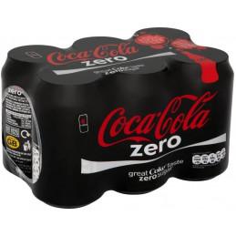 Coca Cola Zero Cans 330mlx6