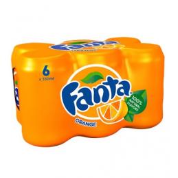 Fanta Orange Cans 330mlx6