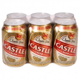 Castle Lager Cans 330mlx6